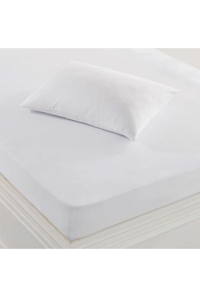 Marie Claire Çift Kişilik Sıvı Geçirmez Alez 160X200 Cm Maranta Beyaz