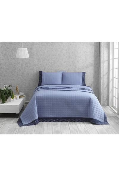Marie Claire Çift Kişilik Yatak Örtüsü Takımı Jolly Mavi