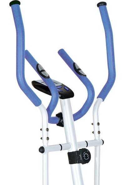 Dynamic E16 Manyetik Eliptik Bisiklet, Elden Nabız Ölçer, Mavi Renk - 2 Yıl İnterspor Garantili