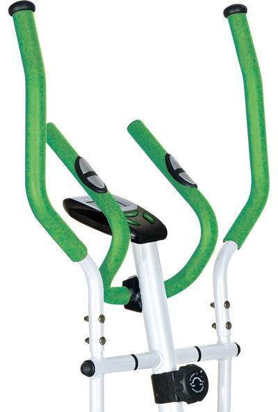 Dynamic E16 Manyetik Eliptik Bisiklet, Elden Nabız Ölçer, Yeşil Renk - 2 Yıl İnterspor Garantili