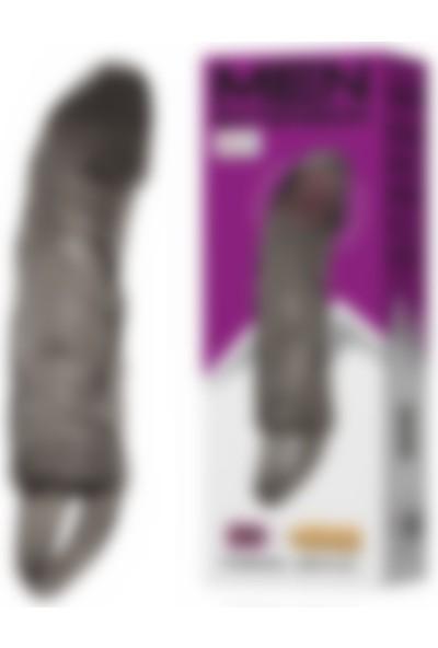 Pretty Love Titreşimli Penis Kılıfı 5Cm Dolgulu Uzatmalı Prezervatif Vibratör
