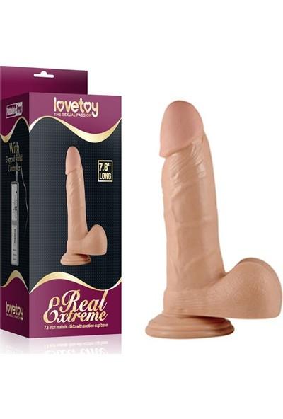 Lovetoy Real Extreme Testisli Kalın Realistik Penis Dildo 20 Cm