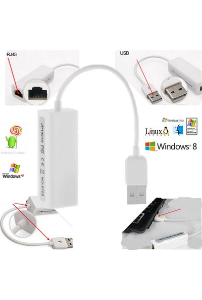 Bst Usb Ethernet Çevirici Dönüştürücü İnternet Adaptörü