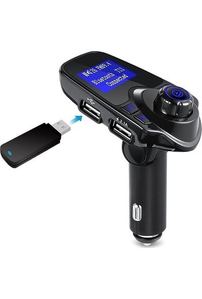 Sarus T11 Usb Araç Şarjı Sd Kart Usb Aux Ve Araç Kiti Özellikli Bluetooth Fm Verici Fm Transmitter