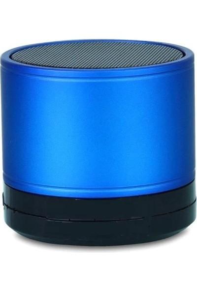 Platoon Mavi Renk Mini Bluetooth Ses Bombası Speaker Şarj Kablolu Kutulu