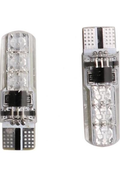 Robotekno Araç Çakar Lamba RGB LED Ampul Kumandalı Çakarlı Park Ampülü