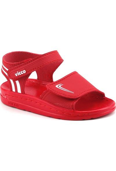 Vicco 332.Z.729 Kırmızı Kız Erkek Çocuk Günlük Sandalet Terlik