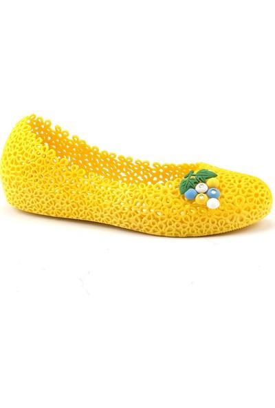Muya 90475 Sarı Plaj Deniz Havuz Babet Bayan Deniz Ayakkabısı