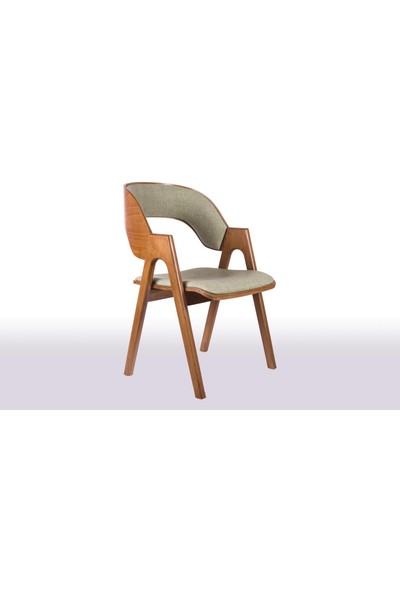 Krl Mobilya Koza Ceviz Düz Ahşap Sandalye