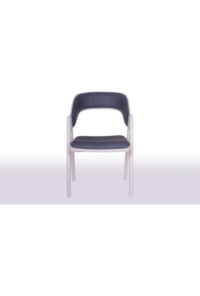 Krl Mobilya Koza Lake Beyaz Ahşap Sandalye