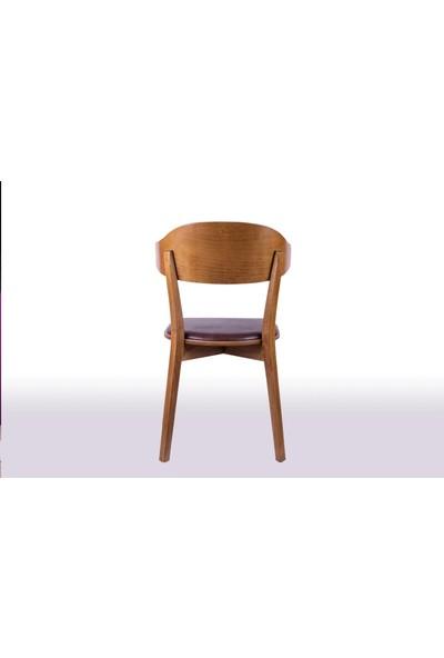 Krl Mobilya Linda Lake Beyaz Ahşap Sandalye
