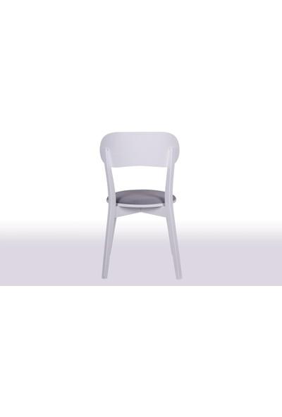 Krl Mobilya Mira Lake Beyaz Ahşap Sandalye