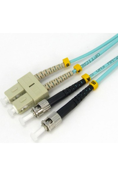 Cabex F/O Om3 Sc-St Duplex Fiber Optik Patchcord Multimode 2 Mt