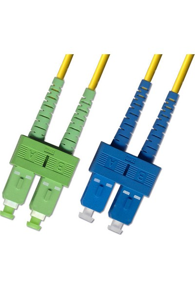 Cabex F/O Apc/Apc Sc/Apc-Sc/Apc Duplex Fiber Optik Patchcord 3 Mt