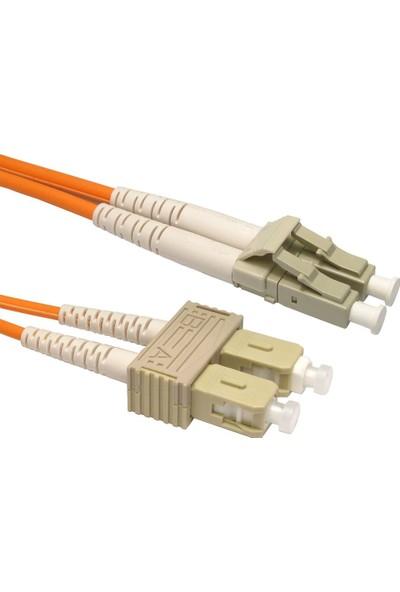 Cabex F/O Mm Sc-Lc Duplex Fiber Optik Patchcord Multimode 10 Mt