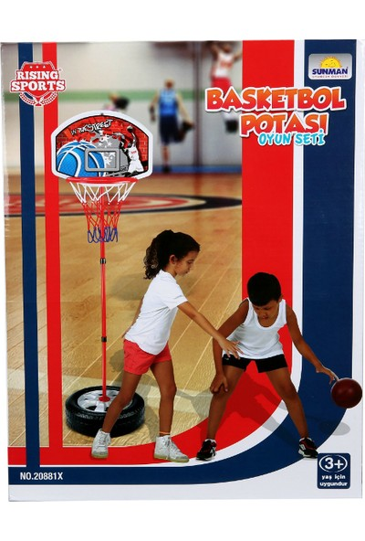Ayaklı Basketbol Potası 93-120 cm