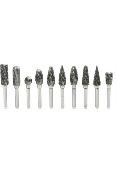 Toolings Tungsten Ahşap Ve Su Kabağı Oyma Uç Seti 10 Parça