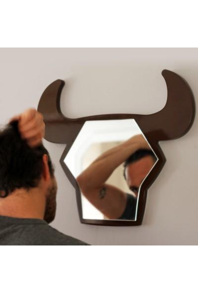 Gibi Design Bull Boğa Şekilli Ayna Kahverengi
