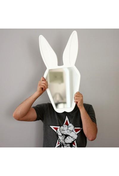 Gibi Design Bugsy Tavşan Şekilli Ayna Beyaz