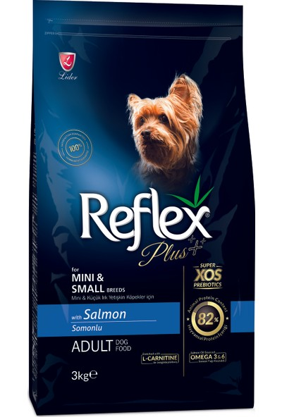 Reflex Plus Küçük&Mini Irk Somonlu Yetişkin Köpek Maması 3 Kg