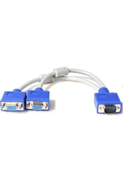Alfais Al-4567 Vga Y Kablo Çoklayıcı Switch Splitter Kablosu
