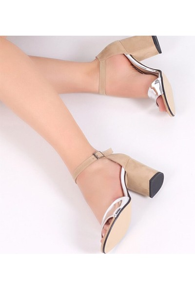 Pembe Potin Monique Lame Ten Nubuk Kadın Ayakkabı