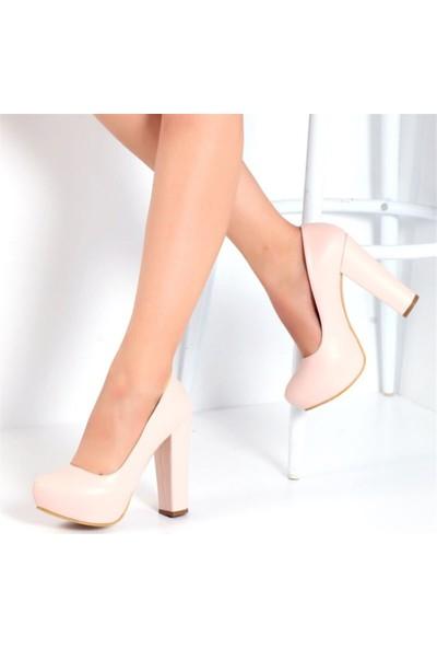 Pembe Potin Milano Pudra Kadın Ayakkabı