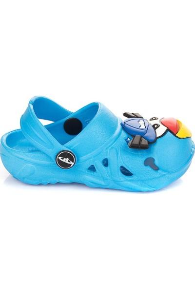 Pembe Potin Birds Mavi Çocuk Terlik