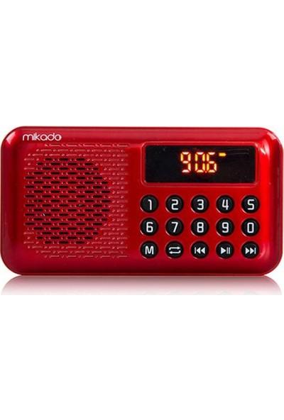 Mikado Md-R33 Kırmızı Usb +Tf Kart+Fm Destekli Led Ekran Müzik Kutusu