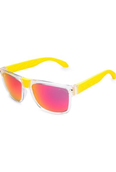 Baendit Ned Kelly Unisex Saydam Çerçeve Kırmızı Lens Sarı Kulaklık Modülleri