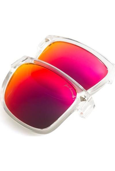 Baendit Ned Kelly Unisex Saydam Çerçeve Kırmızı Lens Mor (Beyaz Logo) Kulaklık Modülleri