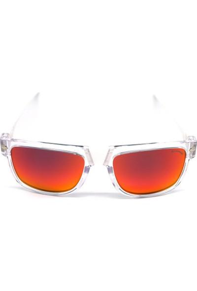 Baendit Ned Kelly Unisex Saydam Çerçeve Kırmızı Lens İnce Beyaz Kulaklık Modülleri
