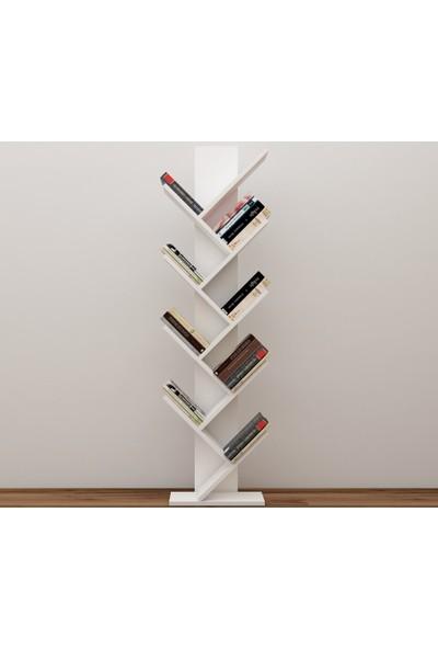 Milena Puzzle Kitaplık Beyaz