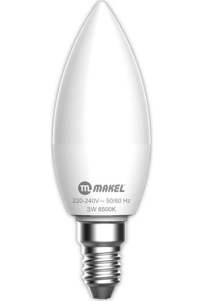 Makel 3W Buji Tipi 6500K E14 Beyaz Işık