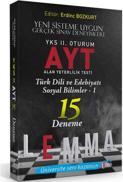 Yargı Lemma Yayınları YKS 2. Oturum AYT Türk Dili Ve Edebiyatı - Sosyal Bilimler-1 15 Deneme - Özgür Özyurt