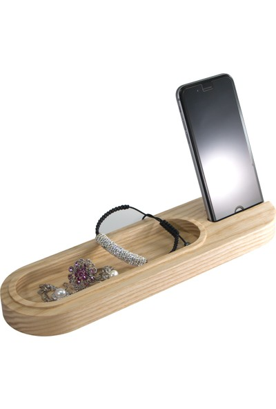 Zuula Minimalist Masaüstü Organizer iPhone Şarj Standı (Dişbudak)