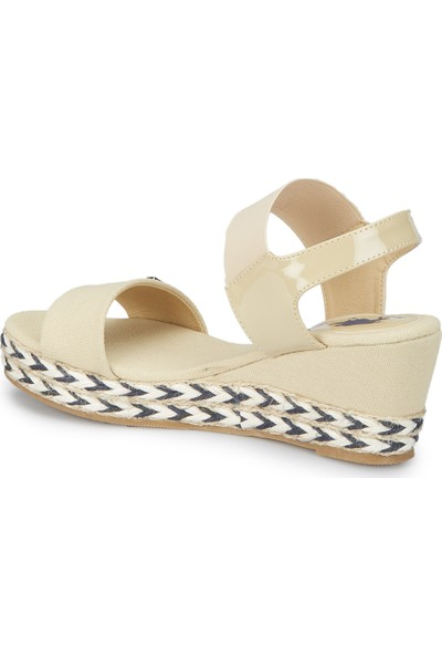 U.S. Polo Assn. Inhe Bej Kadın Sandalet