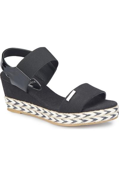 U.S. Polo Assn. Inhe Siyah Kadın Sandalet