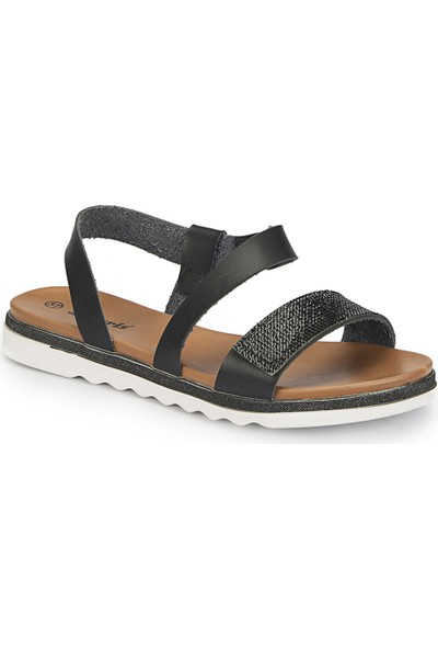 Polaris 81.311498.Z Siyah Kadın Sandalet