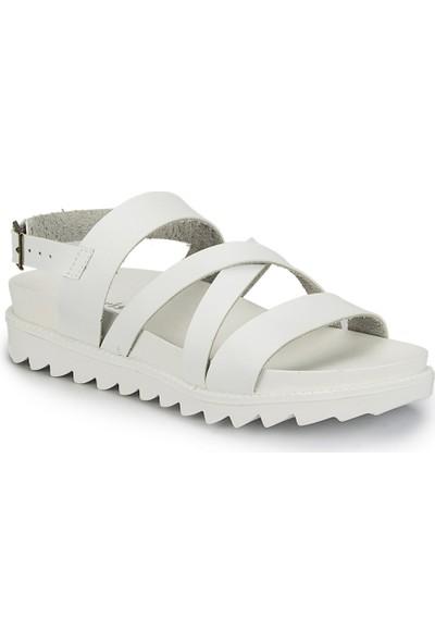 Polaris 81.311486.Z Beyaz Kadın Sandalet