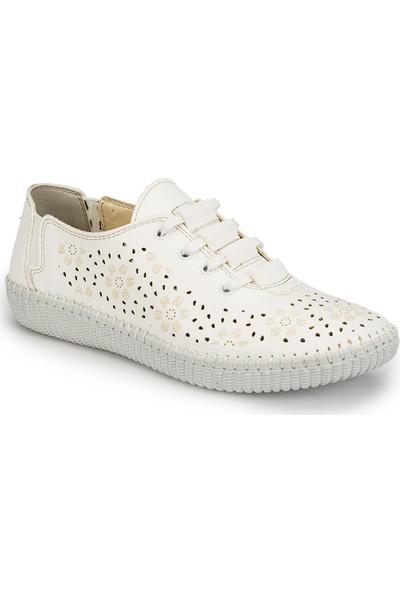 Polaris 81.158416.Z Beyaz Kadın Basic Comfort Ayakkabı