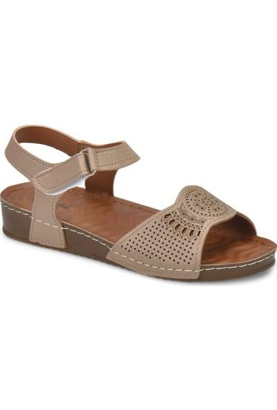 Polaris 81.157373.Z Taupe Kadın Basic Comfort Sandalet