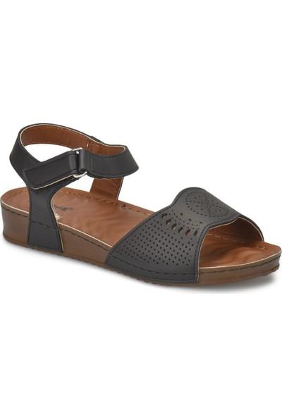 Polaris 81.157373.Z Siyah Kadın Basic Comfort Sandalet