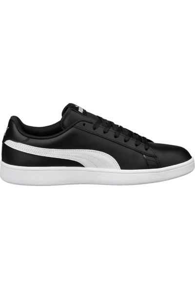 Puma Smash V2 L Siyah Beyaz Erkek Deri Sneaker Ayakkabı