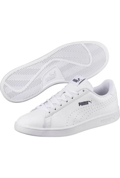 Puma Smash V2 L Beyaz Erkek Deri Sneaker Ayakkabı
