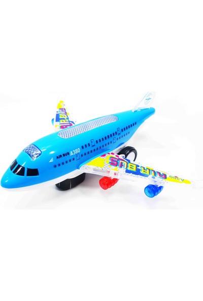 Vardem Oyuncak Uçak Işıklı Müzikli Sesli Hareketli Yolcu Uçak Araba 25Cm