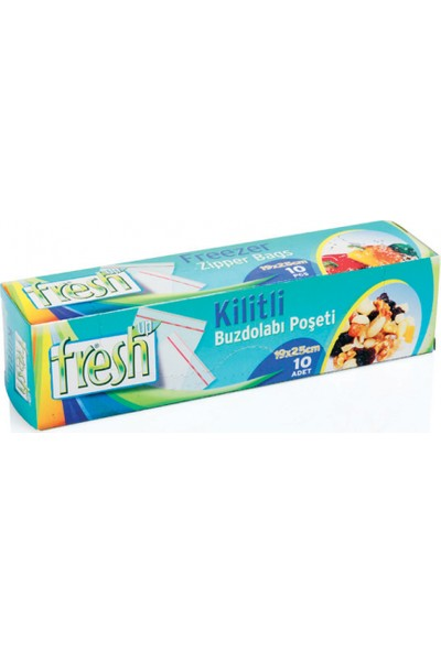 Fresh-Up Kilitli Buz Dolabı Poşeti 19x25 10 Adetli Fresh-Up