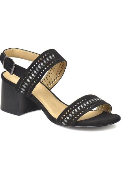 Butigo 18S-Ol170302-07 Siyah Kadın Sandalet