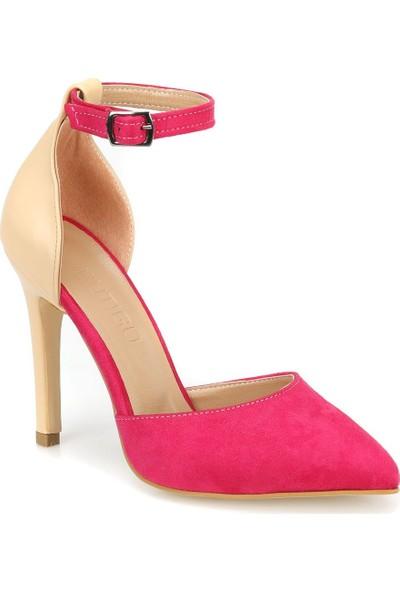 Butigo Deborah12Y37Z Ten Rengi Fuşya Kadın Sandalet