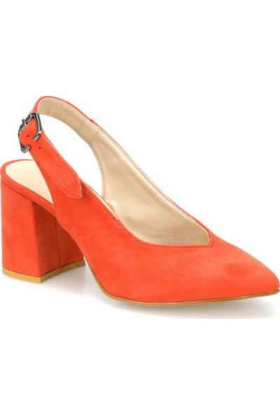 Butigo May 47Z Turuncu Kadın Topuklu Ayakkabı